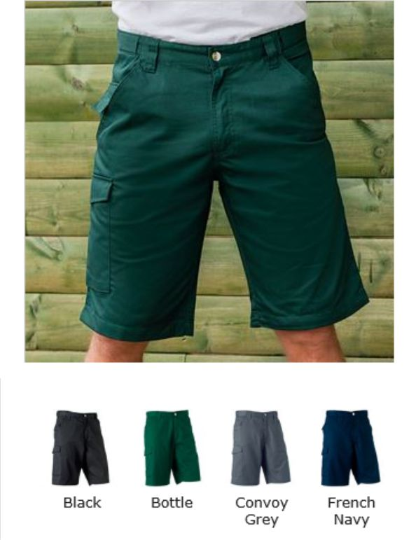 Russells 002M Polycot Twill Workwear Shorts