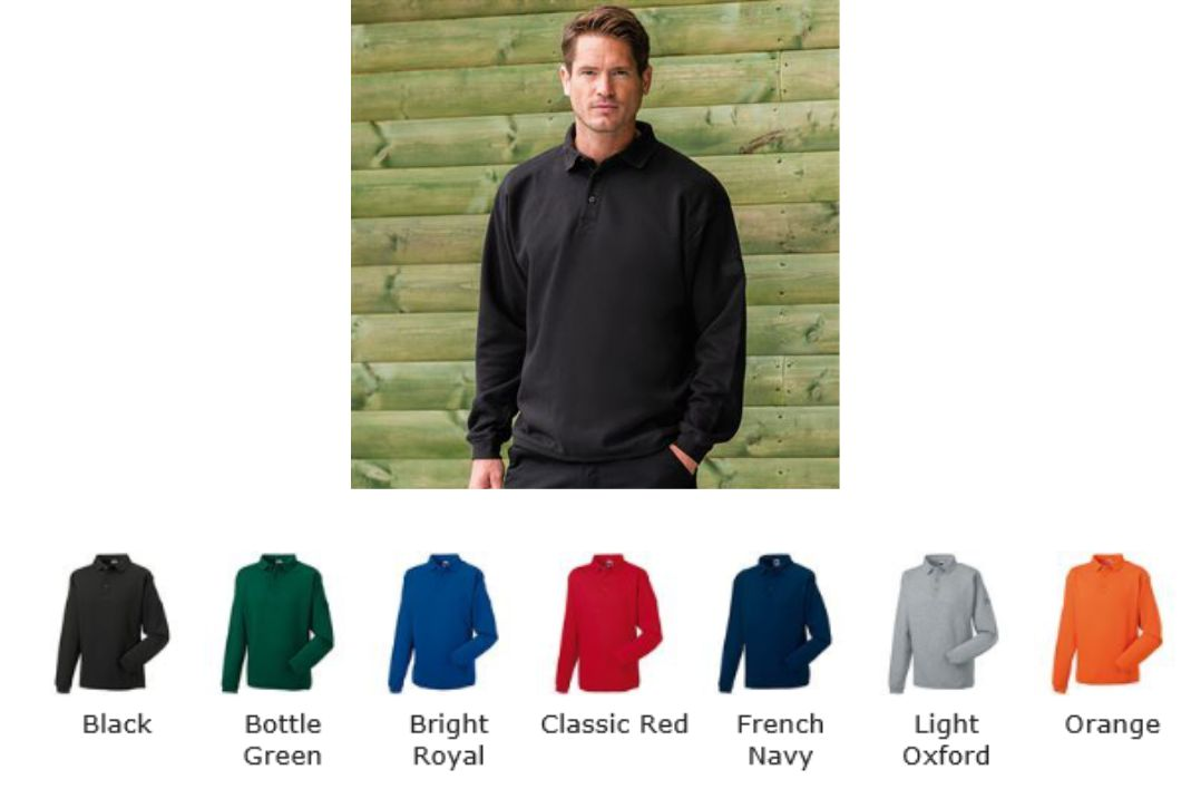 Russells 012M Workwear Polo Sweatshirt