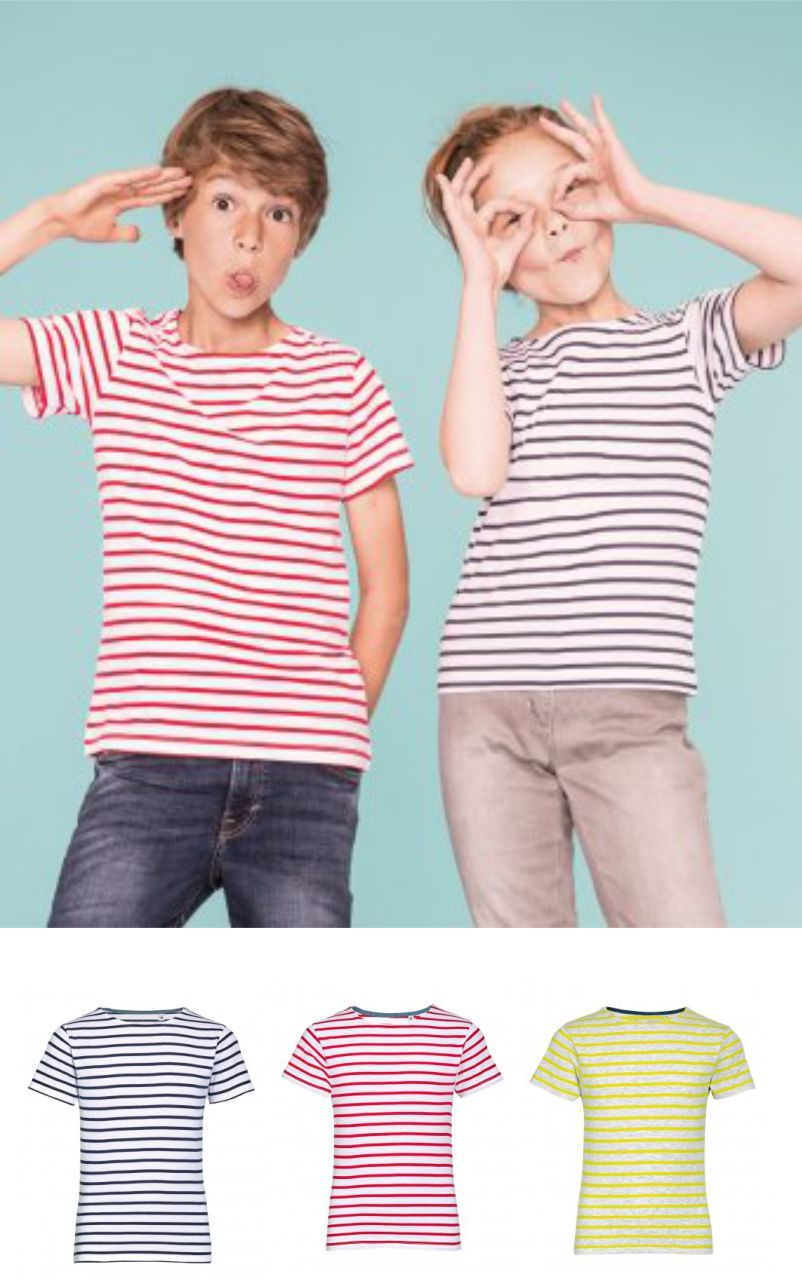 Sol's 01400 Kid's Miles Stripe Tee Shirt