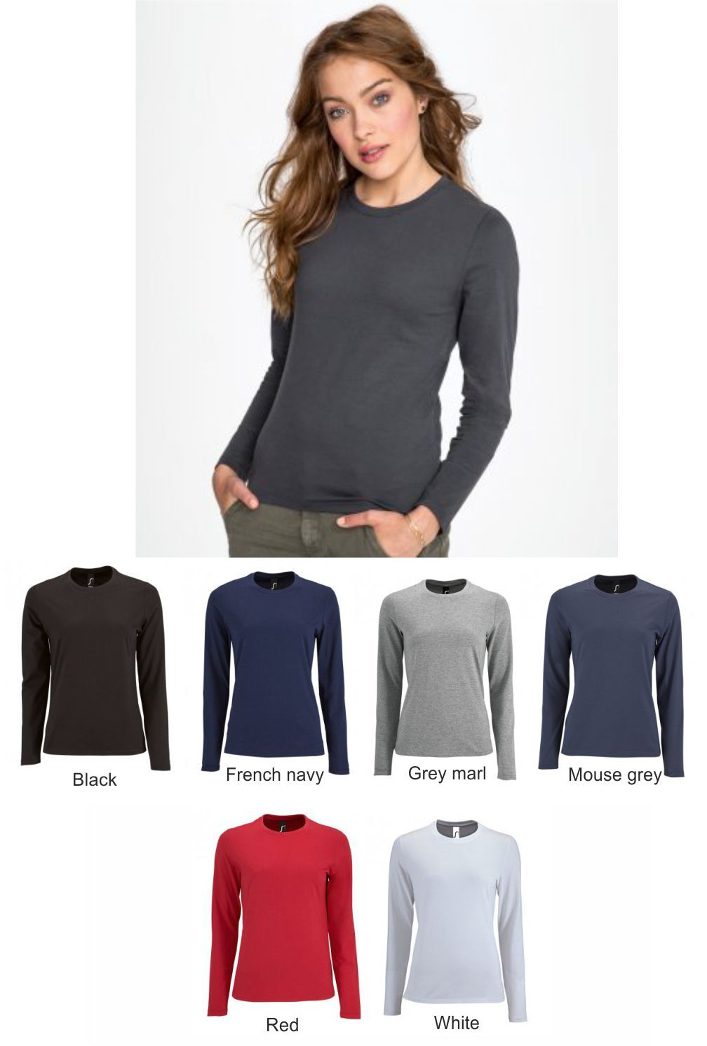 02075 Sol's Ladies Imperial long Sleeve T-Shirt