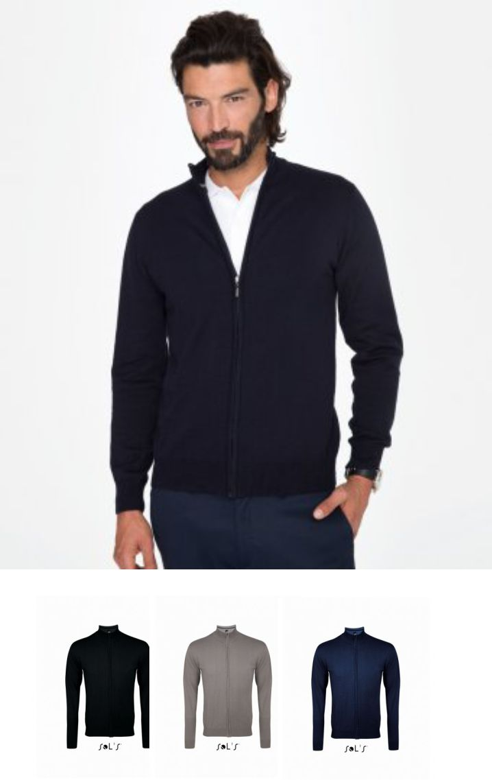 Sol's 10548 Gordon Full Zip Cotton Acrylic Cardigan