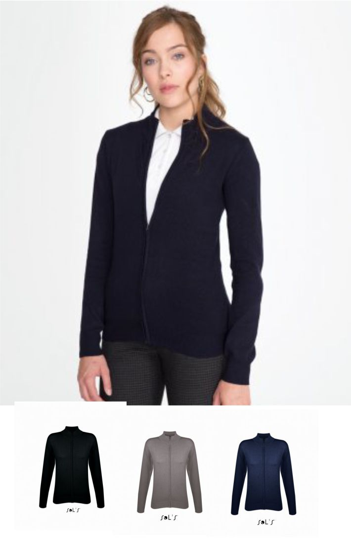 Sols 10550 Ladies Gordon Full Zip Cotton Acrylic Cardigan