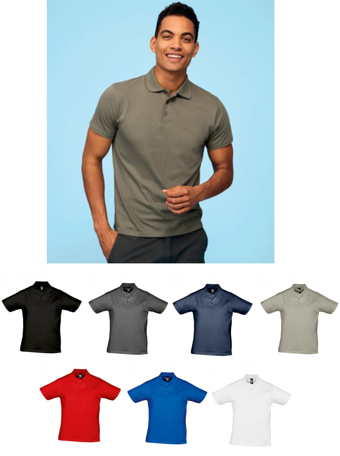 Sol's 11377 Prescott Cotton Jersey Polo Shirt