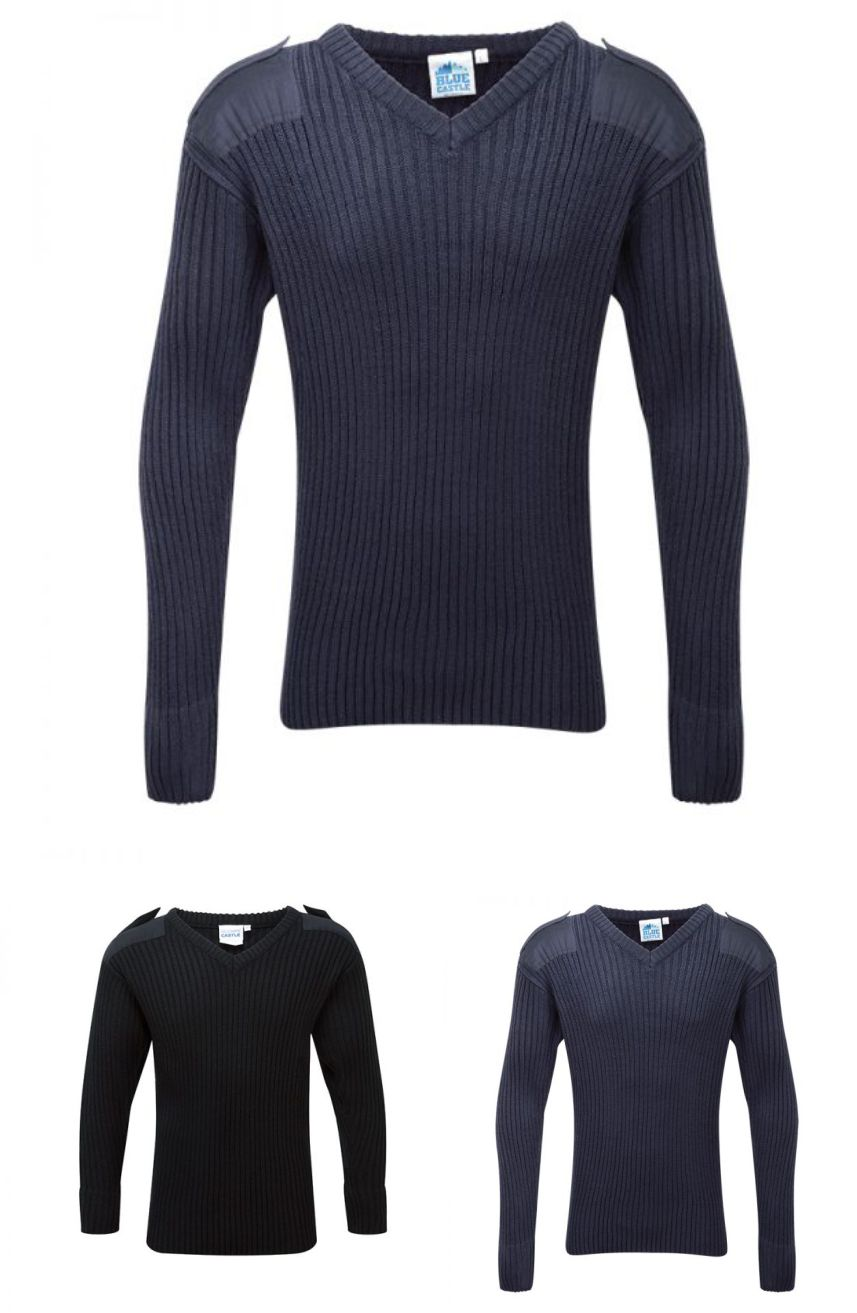 Blue Castle 120V V-Neck Combat Jumper