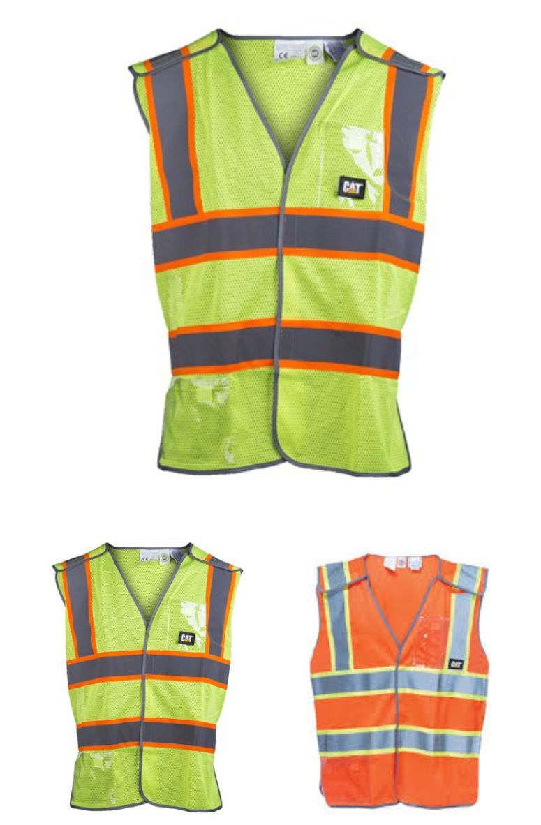 CAT 1322029 5 Point Breakaway Safety Vest