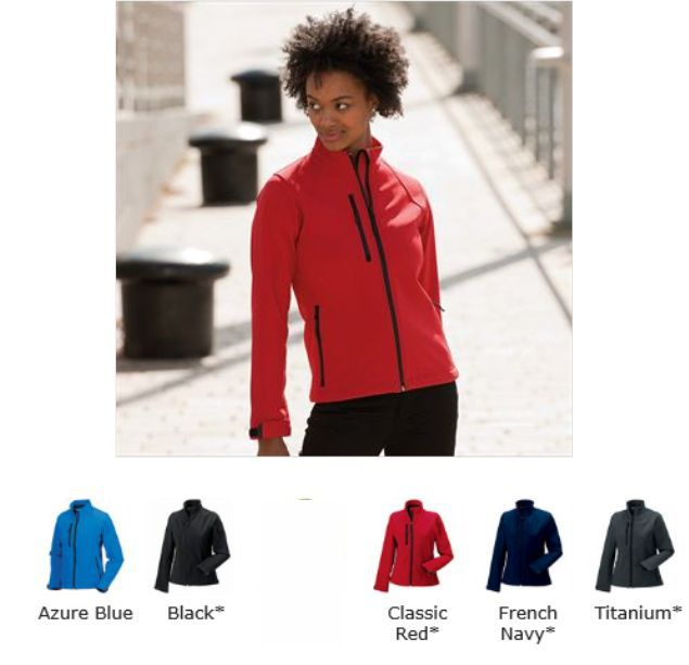 Russells 140F Ladies Softshell Jacket