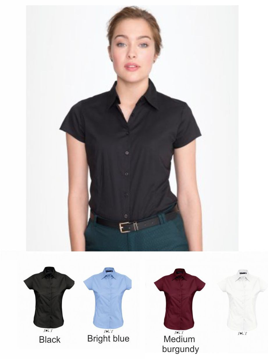 e97ed255028 Sol s 17020 Ladies Excess Short Sleeve Fitted Shirt - £21.25   Ark ...