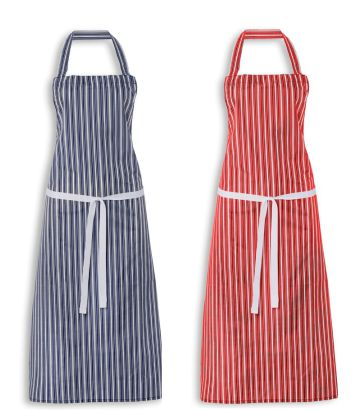 2606 College Stripe PVC Coated Bib Apron