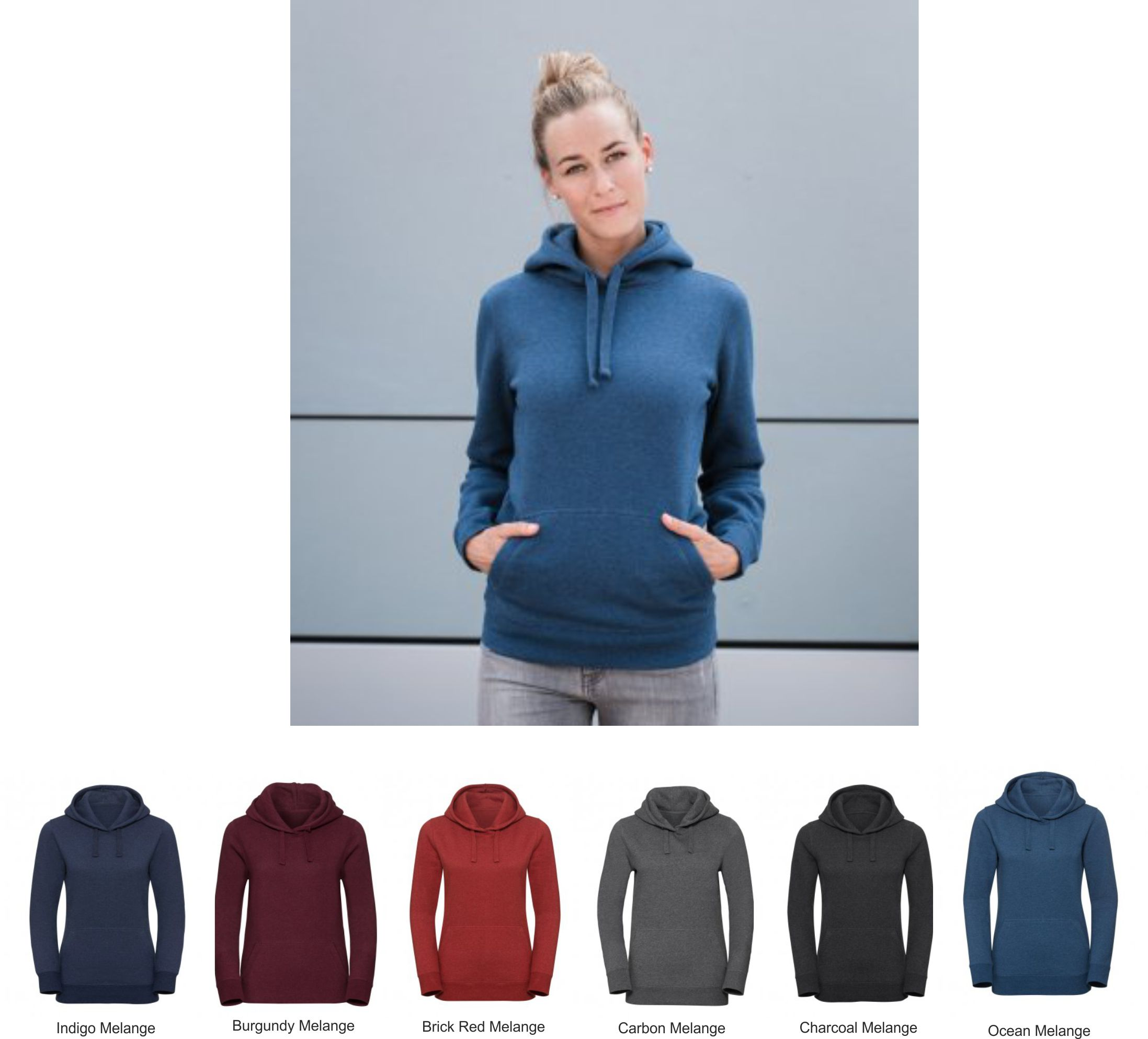 Russell 261F Ladies Authentic Melange Hoodie