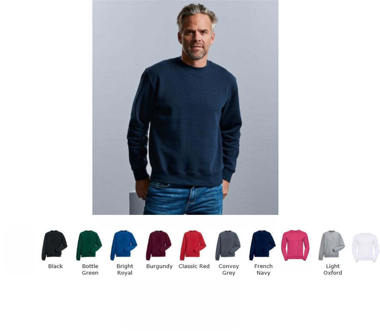 Russells 262M set in sleeve Sweatshirt