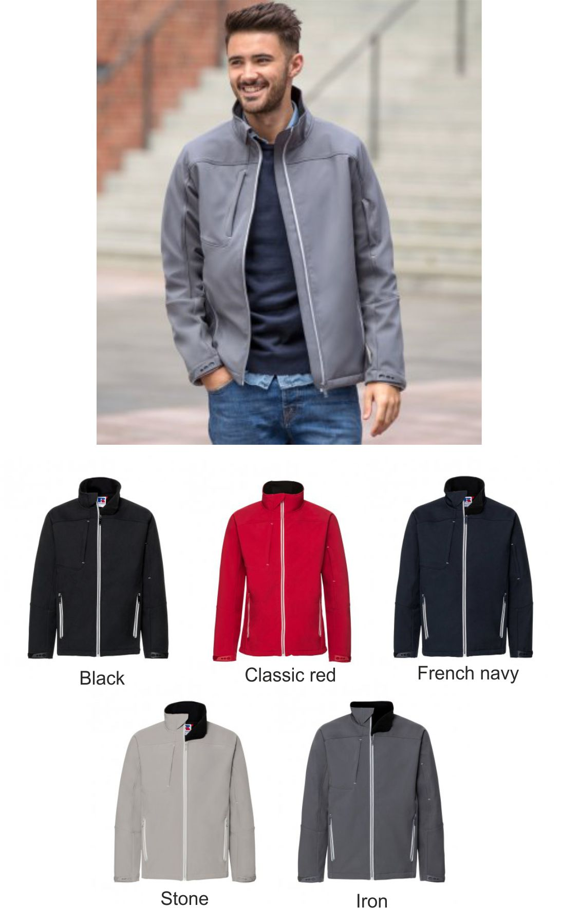 85e66ab0c03 410M Russell Bionic Soft Shell Jacket - £56.95   Ark Trading ...