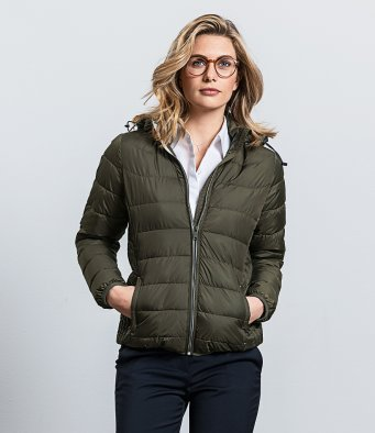 440F Ladies Hooded Nano Padded Jacket