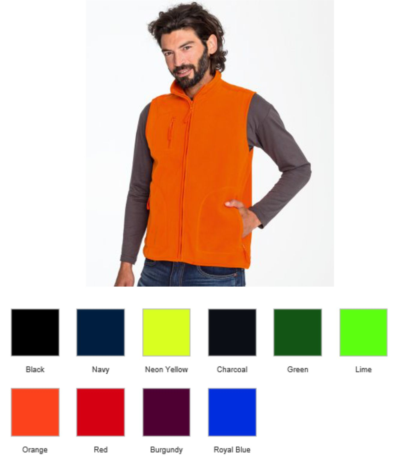 Sol's 51000 Unisex Norway Fleece Bodywarmer