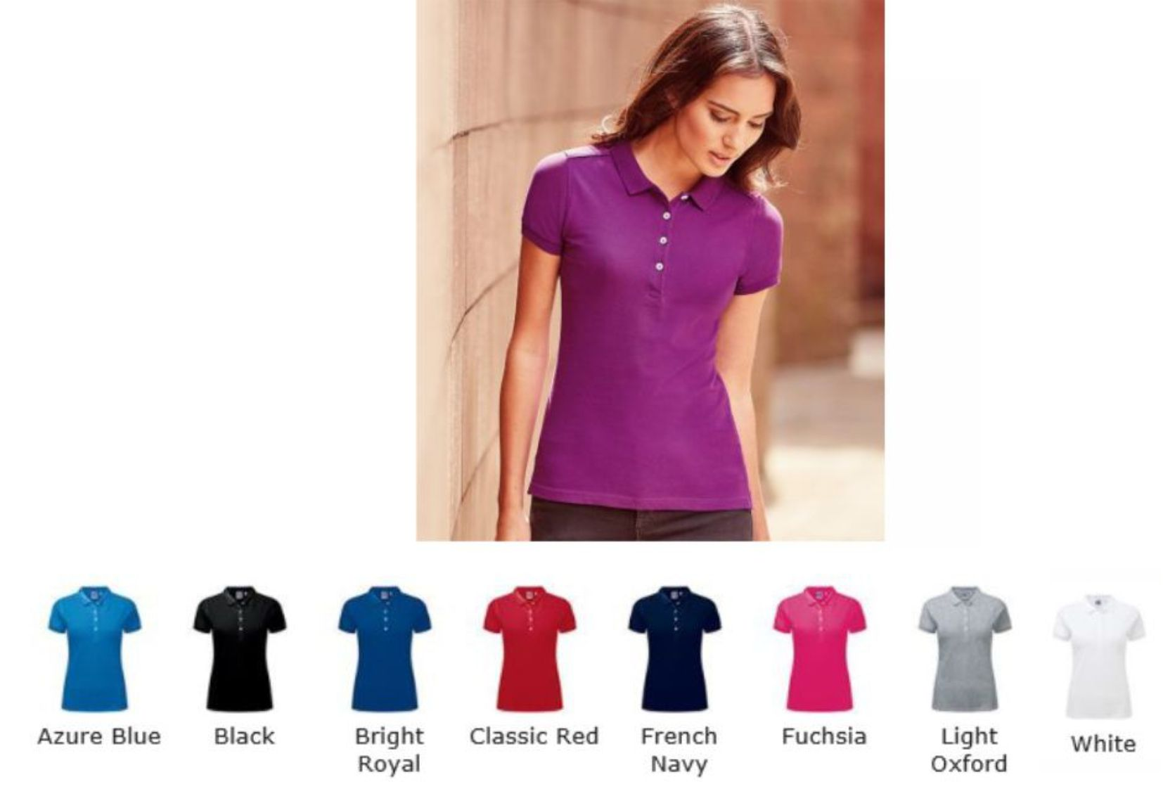 Russells 566F Ladies Stretch Polo