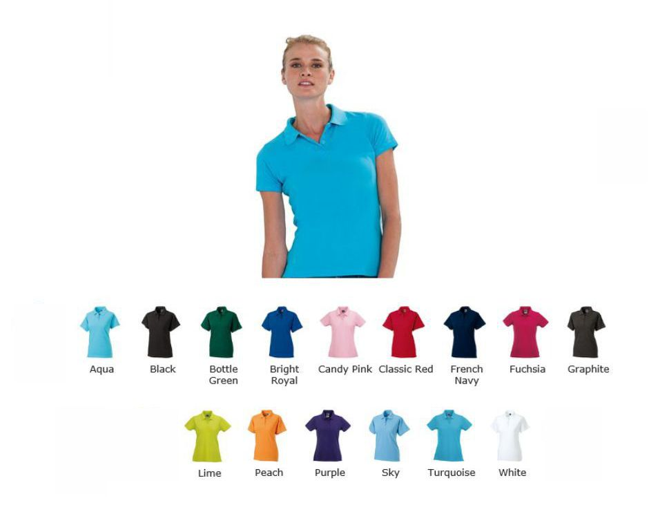 Russells 569F 100% cotton lady fit polo
