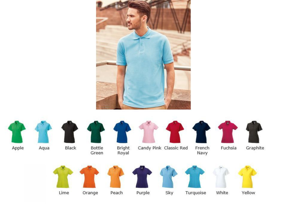 Russell's 569M 100% cotton Pique Polo Shirt