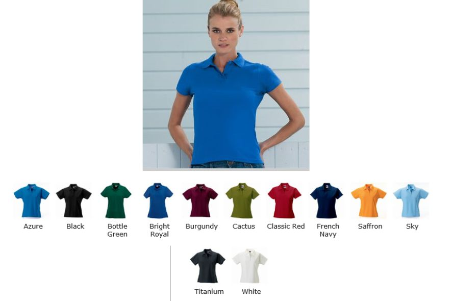 Russells 577F Ladies Ultimate Cotton Polo