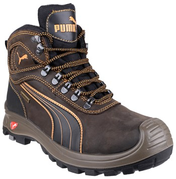Puma Sierra Nevada Mid 630220 Brown Safety Boot With Scuff Cap