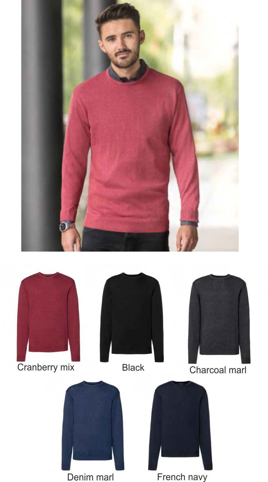 717M Russell collection Cotton acrylic Crew Neck Sweater