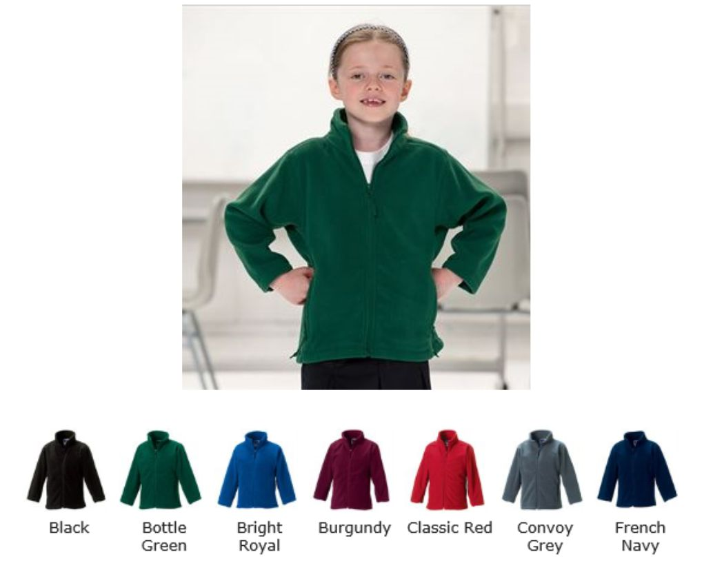 Jerzees 8700B Childrens Full Zip Outdoor Fleece