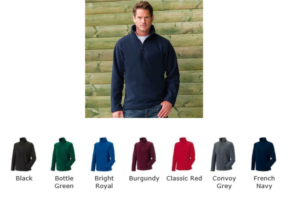 Russell Collection 874M 1/4 zip Oudoor Fleece