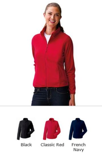 Russell collection 883F ladies fully fitted fleece