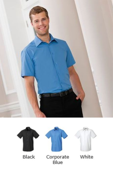 Russell Collection 925M Short Sleeve Poly/cotton Easy Care Shirt