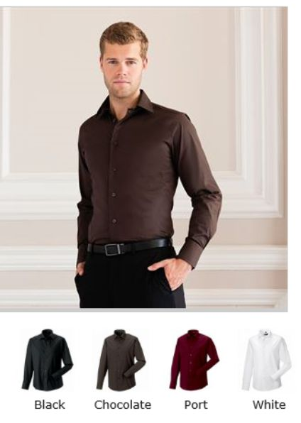 Russell Collection 946M Long Sleeve Easy Care Fitted Shirt