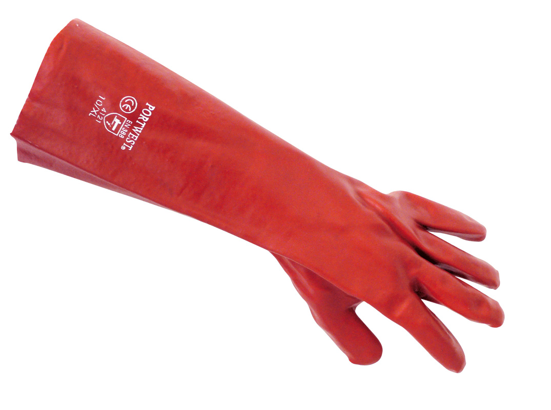 A445 Red PVC Gauntlett 45cm