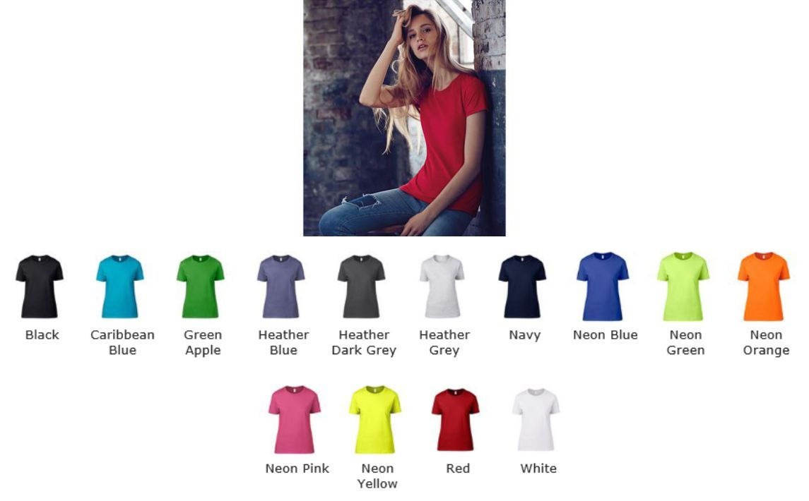 Anvil AV121 Ladies Sheer Scoop neck Tee
