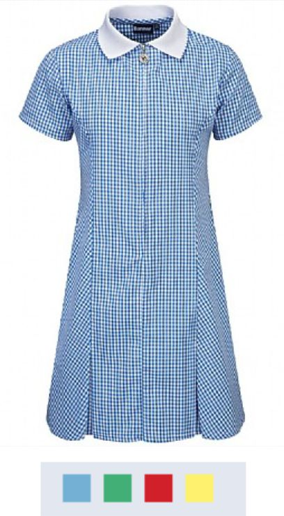 Banner Avon Zip Fronted Corded Gingham Dress