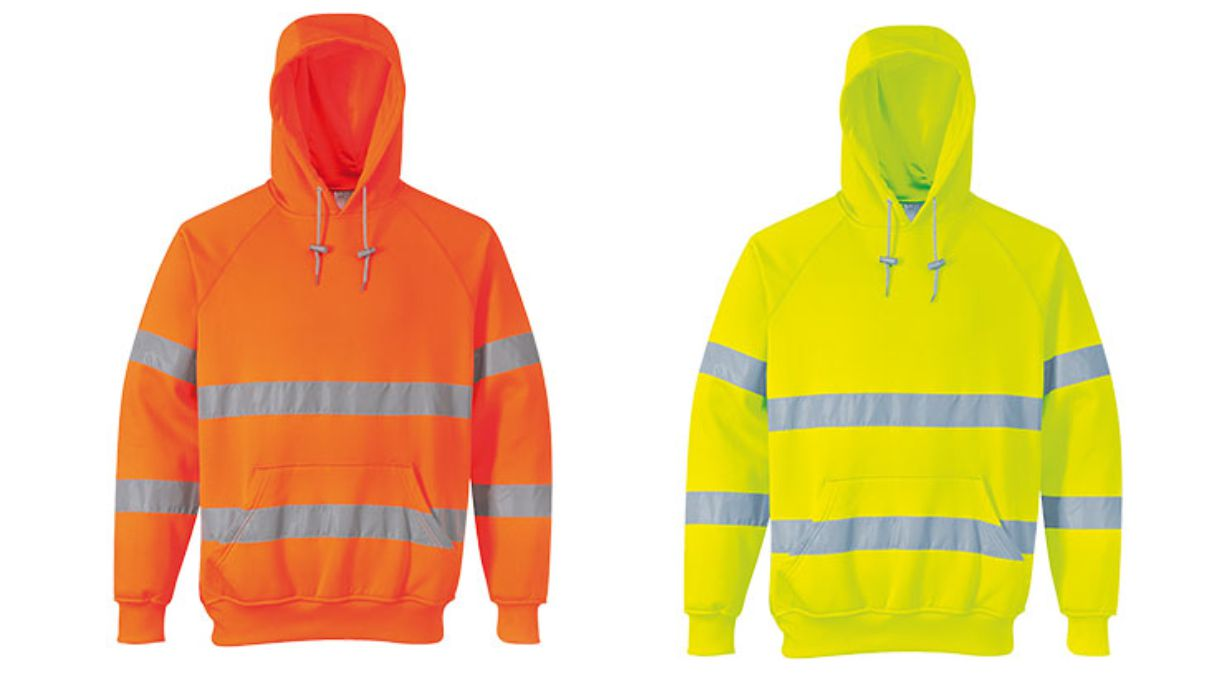 B304 Hooded Hi Vis Sweatshirt