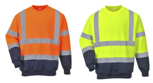 B306 Two Tone Hi-Vis Sweatshirt