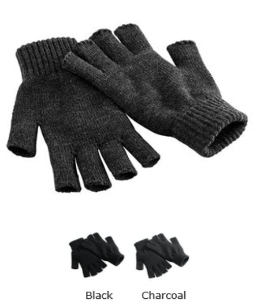 Beechfield B491 Fingerless Gloves