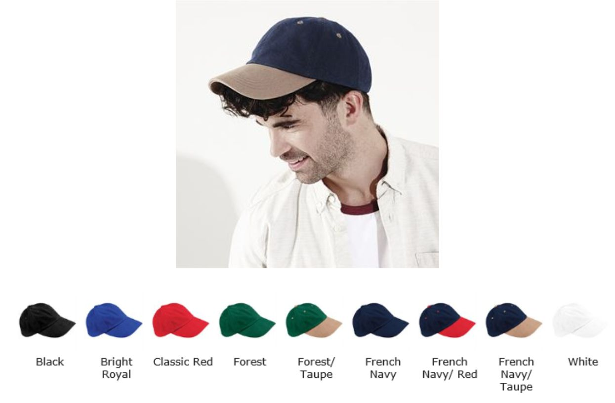 Beechfield B57 Low Profile heavy brushed cotton cap
