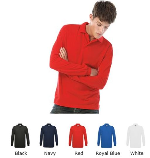 B&C BA301L Safran Long Sleeve Polo