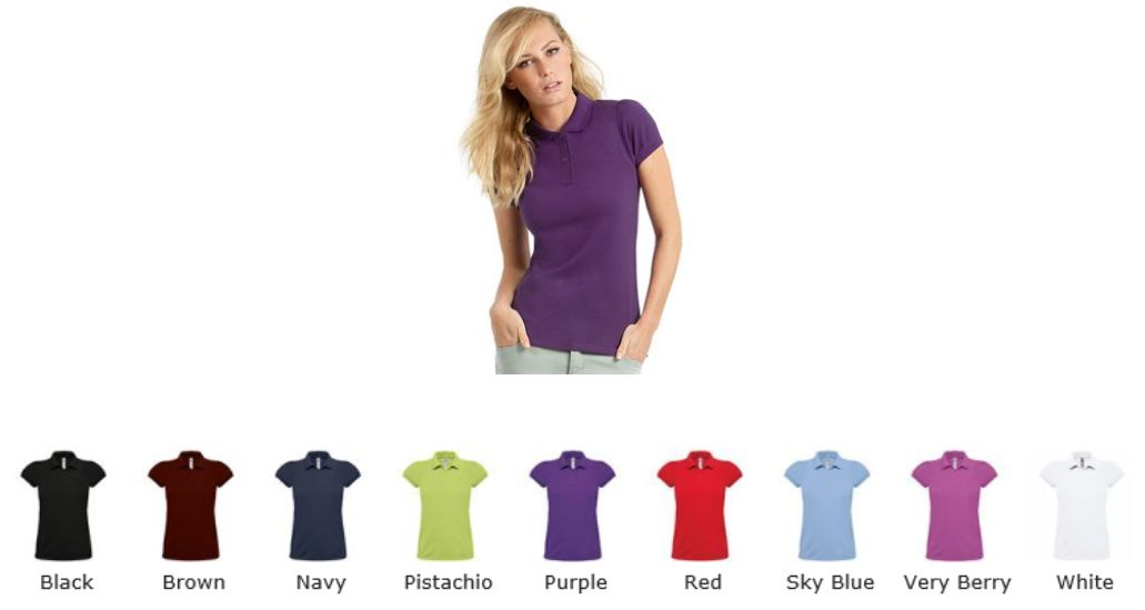 B&C BA305F Ladies Heavymill Polo Shirt