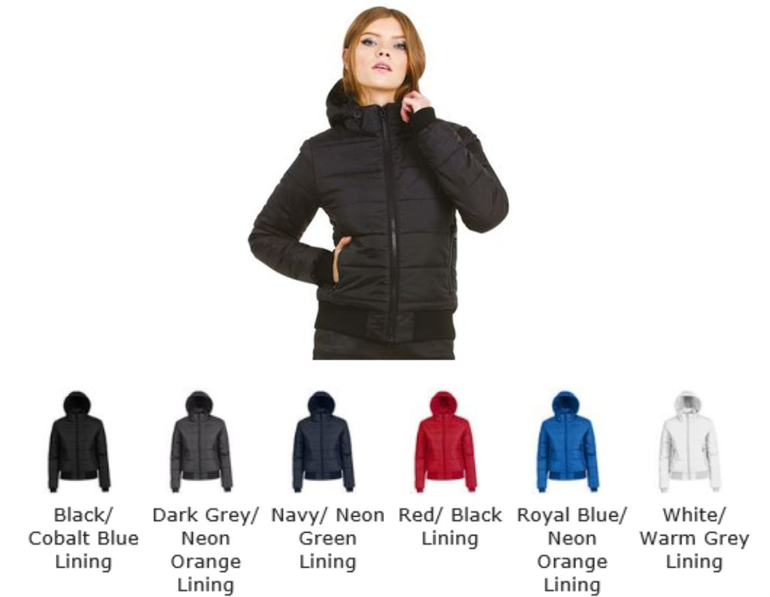 B&C BA657F Ladies Down Jacket