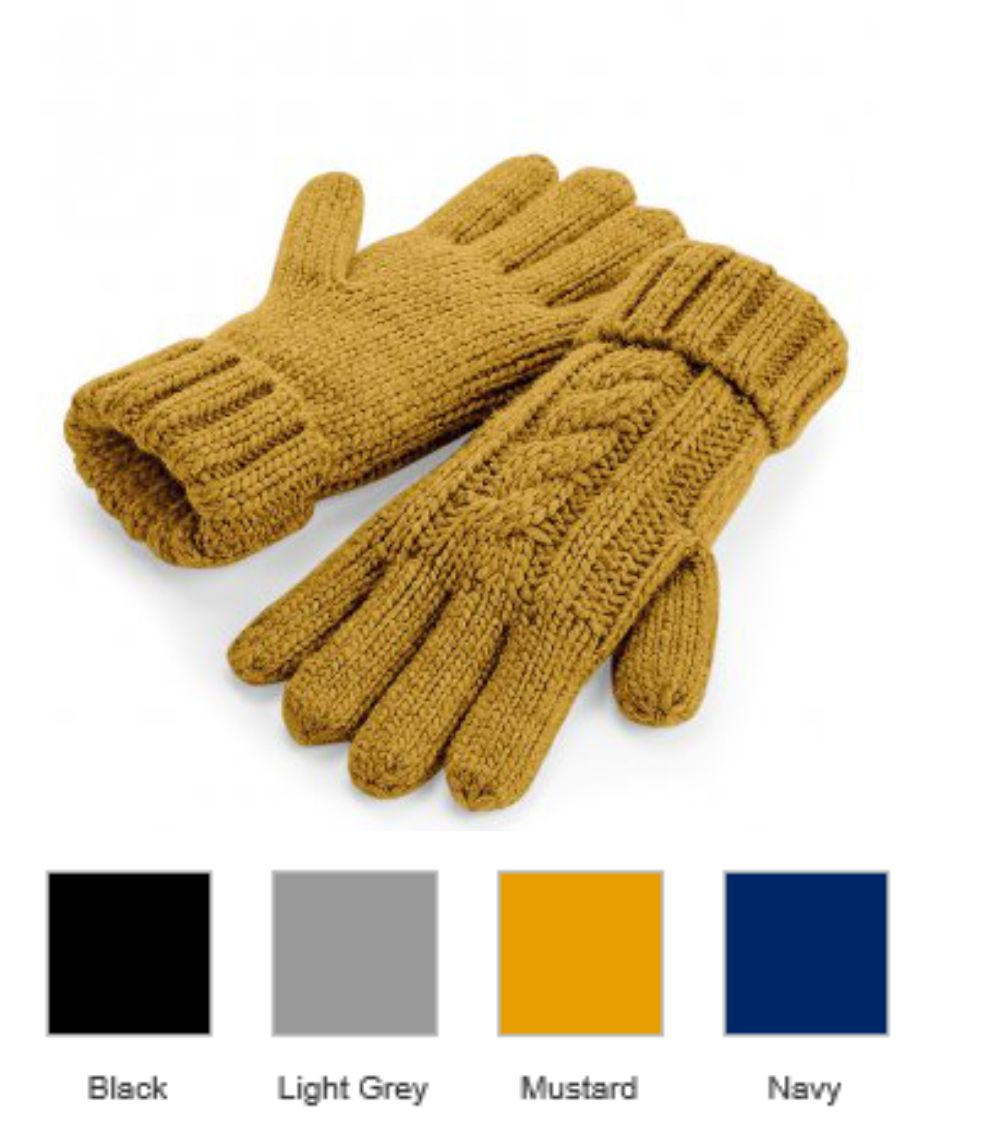 BB497 Beechfield Cable Knit Gloves