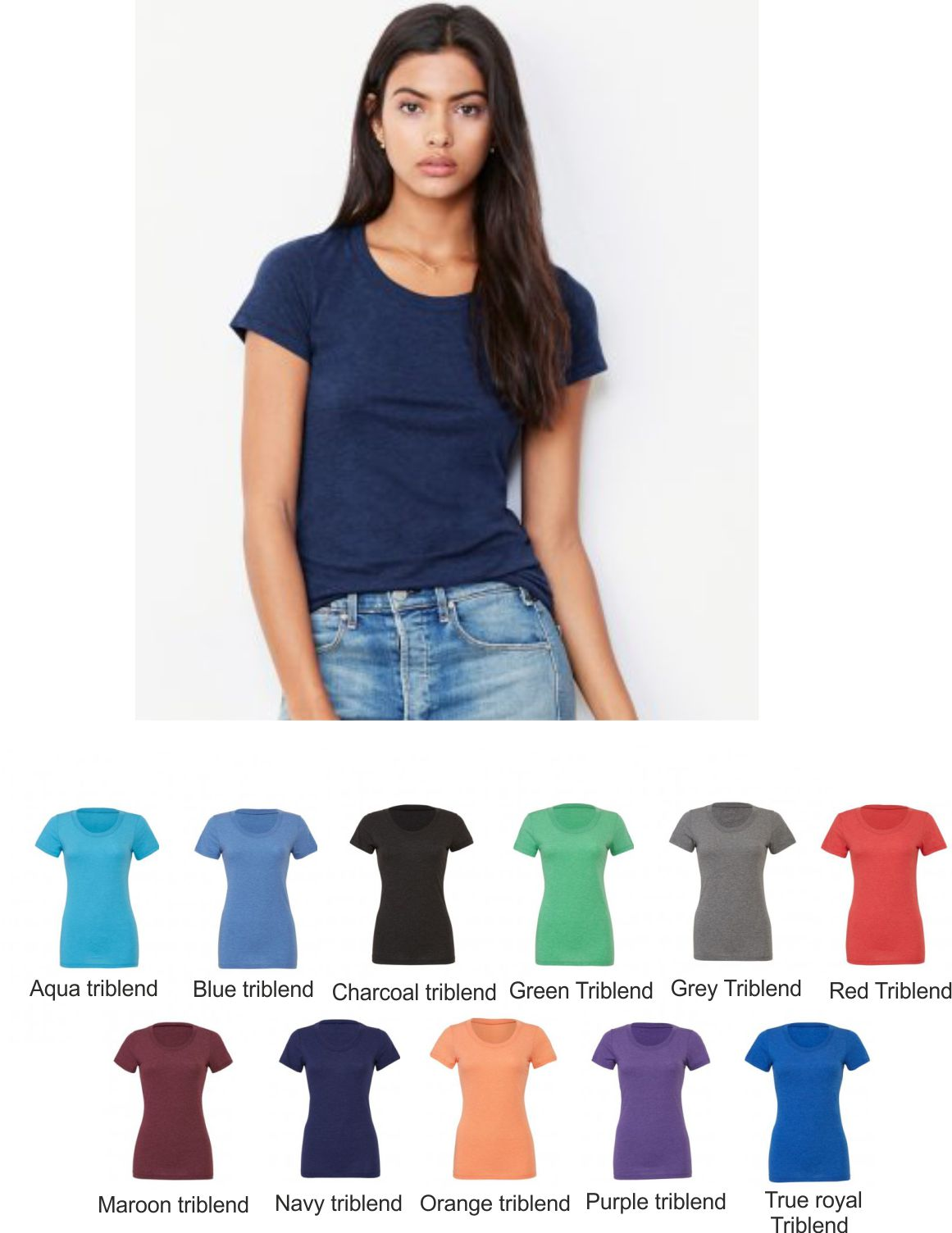 BL8413 Bella+Canvas Tri-Blend Tee Shirt