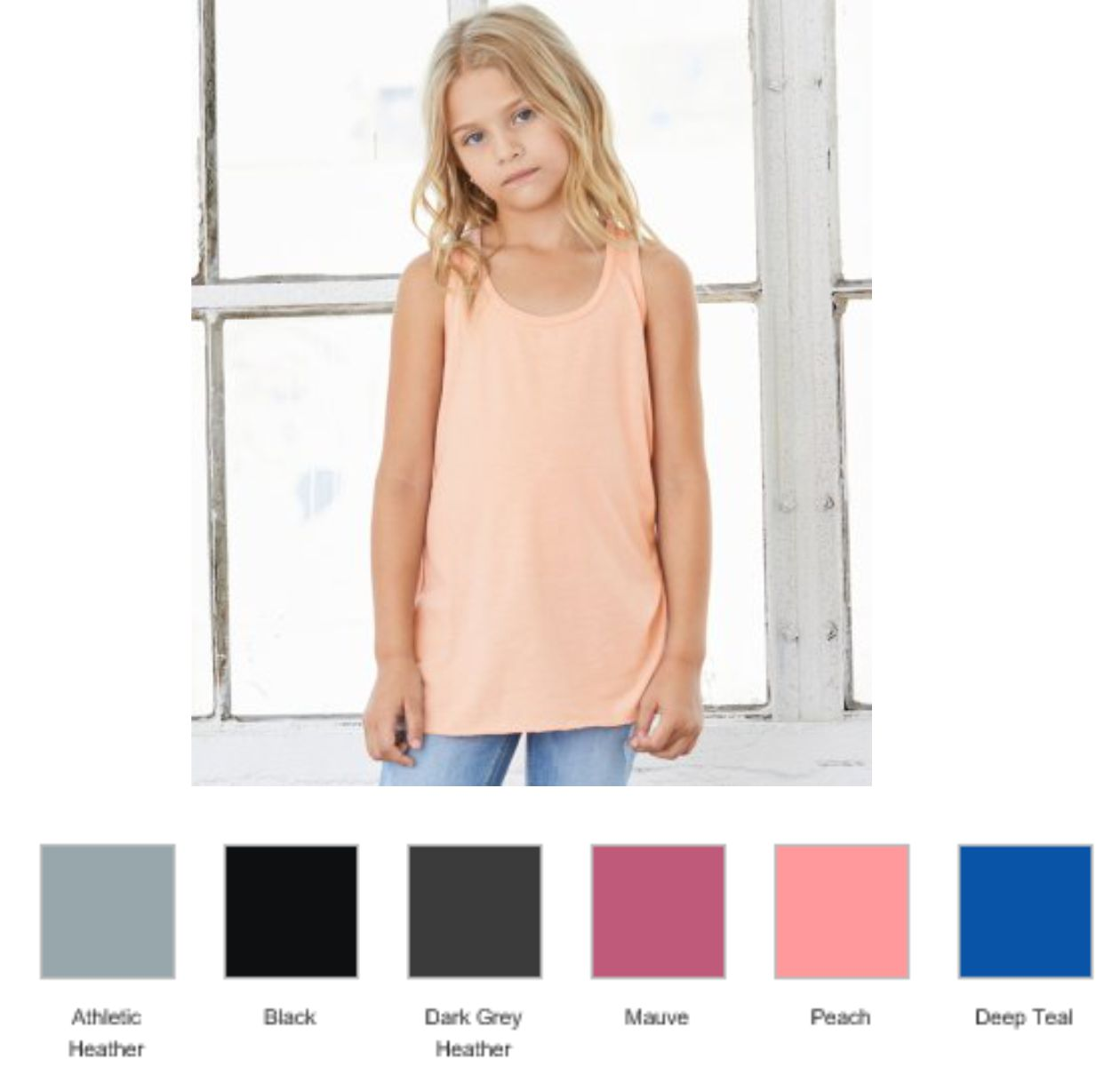 BL8800Y Bella Youths Flowy Racer Back Tank Top