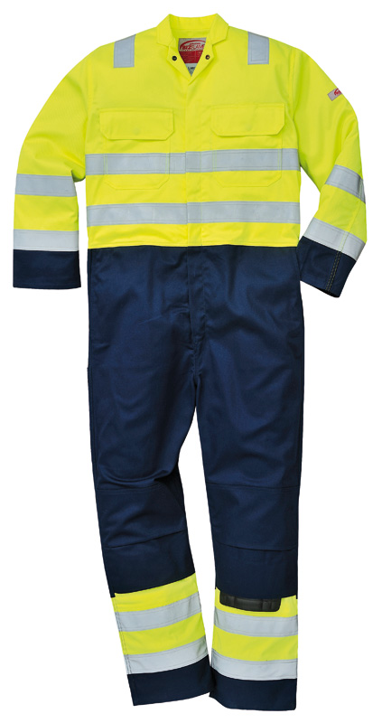 BIZ7 Hi Viz Anti-Static Bizweld Coverall