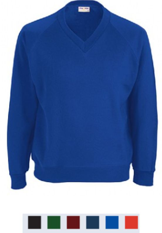 Blue Max Classic Junior Vee Neck Sweatshirt
