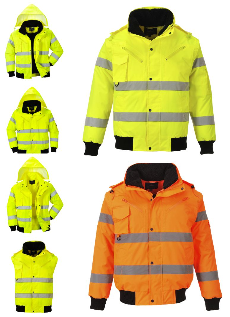 C467 Hi Vis 3 in 1 Bomber Jacket