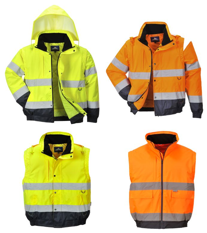 C468 Hi Vis 2 in 1 Jacket