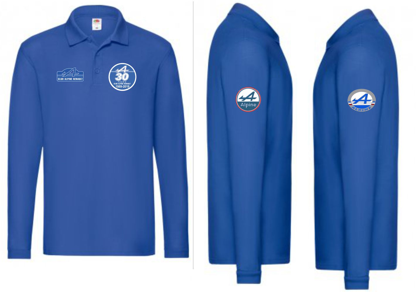 Alpine Renault 30th Anniversary long sleeve polo shirt