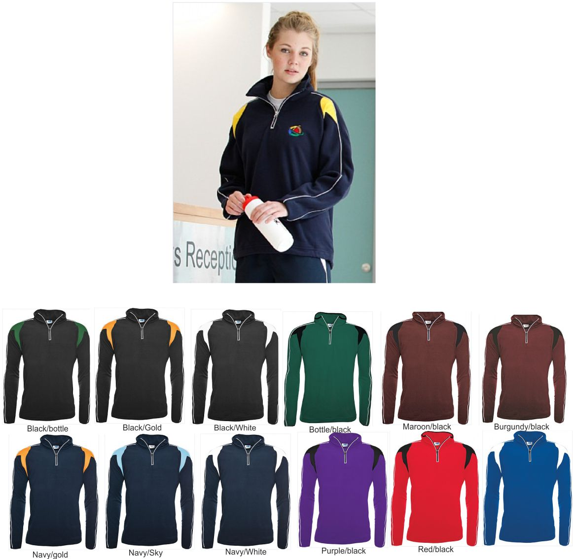 Cuatro Senior 1/4 Zip Micro Fleece