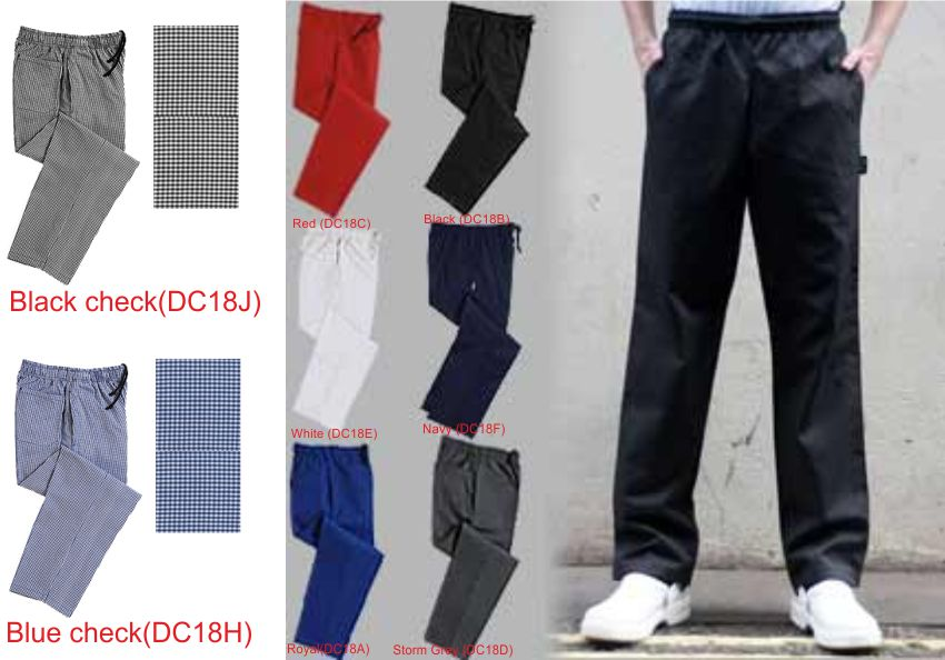 DC18 Elasticated Chefs Trousers