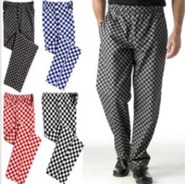 DC28 Check Chefs Trousers