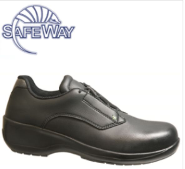 DK95 Safeway Women's Safety Lace Up Washable Shoe